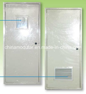 Galvanized Steel Door with Air Grill for Toilets (CHAM-DAV02) pictures & photos