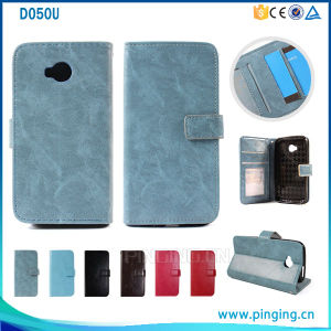 Amazon Mobile Phones Crazy Horse Pattern Flip Case for Blu D050u, Leather Case for D050u pictures & photos