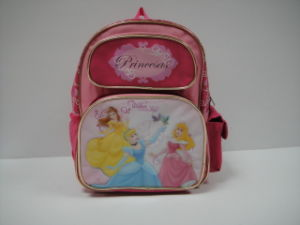 Polyester PVC Princess School Bag Backpack