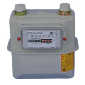 Residental Digital LPG Gas Meter with 4 Pieces Alkaline Battery pictures & photos
