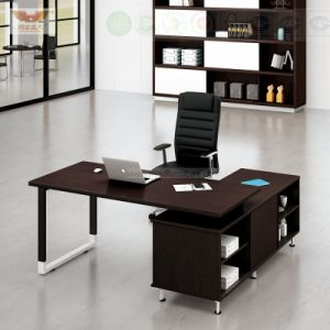 Office Furniture Black L Shape Executive Desk (H80-0168) pictures & photos