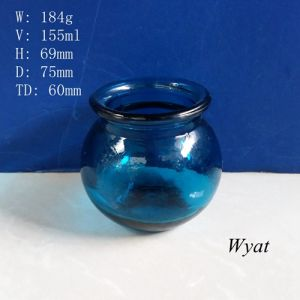 150ml Colored Blue Glass Candle Jar Glass Candle Holder Glass Painted Jar pictures & photos