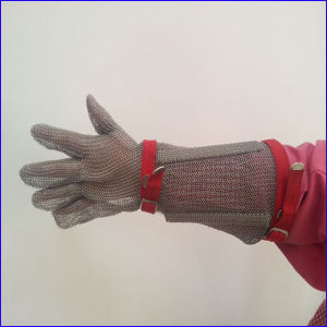 Arm Protective Cut Resistant Stainless Steel Gloves pictures & photos