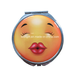 Wholesale Custom Metal Emoji Compact Mirror pictures & photos