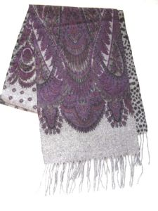100%Wool Double Faced Printed Scarf pictures & photos