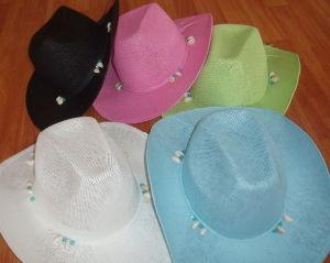 paper woven cowboy hat pictures & photos
