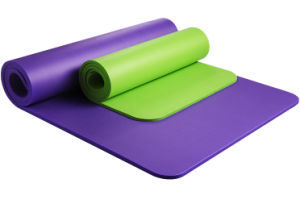 Extra Thick and Long Comfort Foam Yoga Exercise Mat with Carrying Strap pictures & photos
