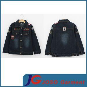 Black Denim Jacket for Boys (JT8010) pictures & photos