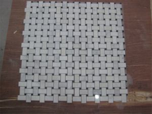 Oriental White Marble Stone Mosaic Floor Tile for Bathroom pictures & photos