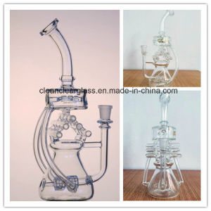 Ccg01 Self-Design Pipe Organ/Violin Glass Water Pipe Smoking Pipe Glass Recycler