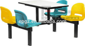 High Quality School /Canteen Restaurant Table and Chairs, Modern 4-Seaters Fast Food Table and Chairs pictures & photos