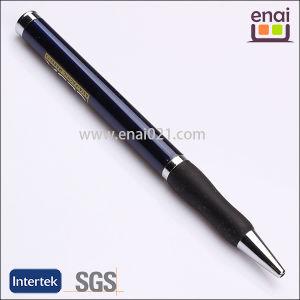 Blue Body Black Rubber Metal Promotional Ball Pen (EN 180B)