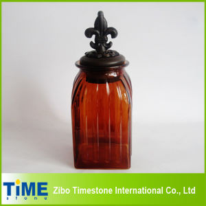 Glass Storage Jar With Metal Lid (TM022) pictures & photos