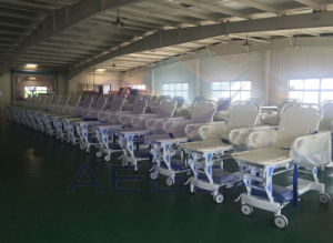 AG-HS002 Cheapest Height Adjustment Hand Control Manual Transport Stretcher pictures & photos