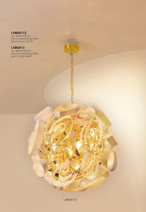 Fancy Golden E14 Bulb Pendant Lighting for Home Project pictures & photos