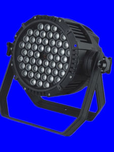 High Lumens 54PCS 3W RGBW LED PAR Can Light IP65 Good Color Mixing Effect