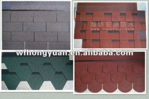 Fiberglass Colorful Style Asphalt Shingle for Roof pictures & photos