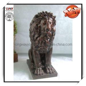 45 Inch Lion Fiberglass Sculpture (YAN085B-45H-LA114)