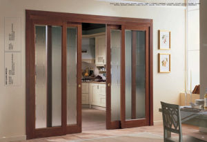 Clearn Glass Wooden Sliding Door pictures & photos