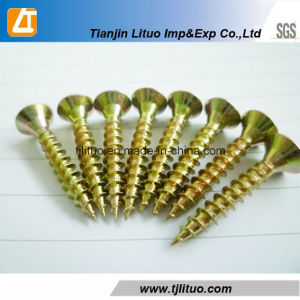 C1022A Material Yellow Zinc Plated Chipboard Screws pictures & photos