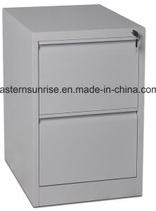 Two Drawer Steel Metal Vertical Filing Storage Cabinet pictures & photos