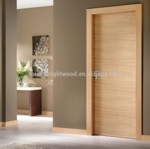 Veneer Interior Flush Wooden Doors Design with Invisible Hinge pictures & photos