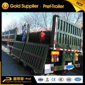 High Quality 3 Axles 40/45/50/60 Tons Side Wall Open Side Trailer for Sale