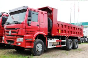 Red Color 336HP Euro 2 Tipper Truck Dumper Truck pictures & photos