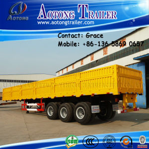 3 Axles 60tons Cargo Semi Trailer, Side Board Semitrailer, Side Boards Flatbed Semi Trailer, Flatbed with Side Wall, Sidewall Semi Trailer pictures & photos