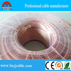 Electric Copper Wire Transparent Flat Parallel Speaker Cable Customized Size pictures & photos