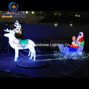 LED Crystal Reindeer Sleigh for Christmas Decoration (BW-SC-248) pictures & photos