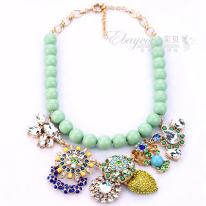 Fashion J. Crew Jewelry Bohemian Style Flower Necklace with Gem Crystal and Rhinestones (BSSP5564)