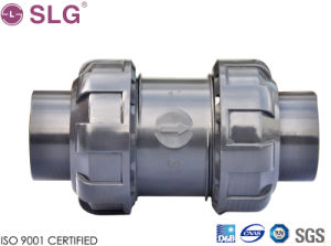PVC Plastic Double Union Check Valve pictures & photos