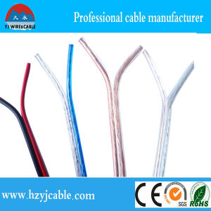 CCA/ CCC Pure Copper Blue Transparent Speaker Cable AWG 15 2*7*21/0.12 Parallel Cable pictures & photos