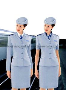 2016 Custom Fit Aviation Uniforms, Airline Hostess Uniform (WU17) pictures & photos