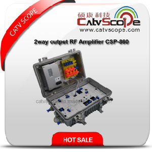 CATV Optical Line Amplifier with 2 Way Output 220V