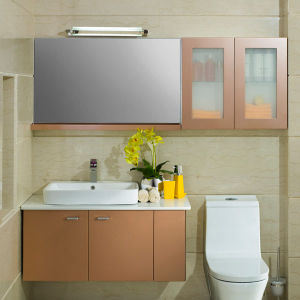Oppein High End Golden Shiny Lacquer Bathroom Cabinet pictures & photos