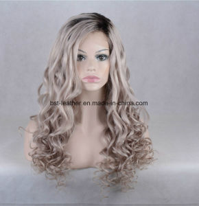 Unprocess Natural Wave Remy Hair Lace Front Wig pictures & photos
