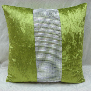 Fashion Ice Velvet Rhineston Cushion (DIV02-003) pictures & photos