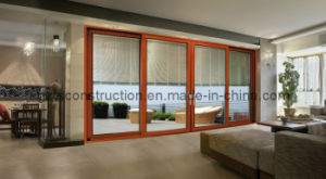 Aluminum Door Designs Sliding Opening with Inner Blinds pictures & photos