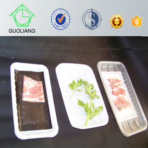 Dairy Meat Fish Poultry Use and Tray Type Disposable Plastic Meat Cover with Absorbent Meat Pad pictures & photos