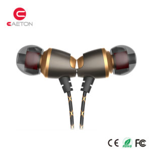 Mobile Phone Stereo Metal Earphone with Mic pictures & photos