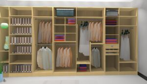 Solid Wood Custom Walk in Closet (YB1105) pictures & photos