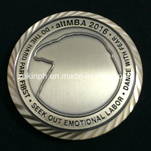 Customized Challenge Coins with Diamond Edge Design pictures & photos