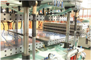 PC Multi-Hollow Sheet Production Line PC Hollow Grid Sheet Extrusion Machinery Polycarbonate Sun Board Extrusion Line PC+UV pictures & photos