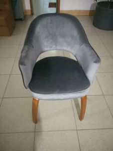 Silver Color Fabric Chair in Living Room Furniture (FY05) pictures & photos