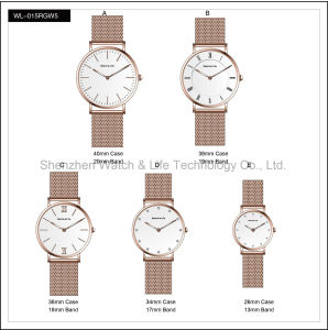 Promotion Watches Mesh Band Fashion Men′s Lady Simple D Style Wrist Watch pictures & photos