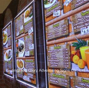 Wall Hanging LED Acrylic Crystal Light Box/Acrylic LED Menu Board pictures & photos