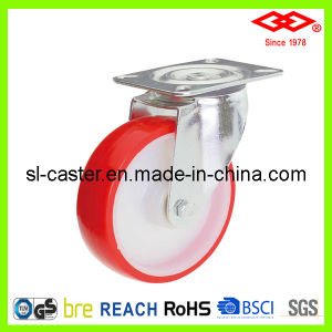 200mm Swivel Locked PU Industrial Castor Wheel (P102-26D200X50S) pictures & photos