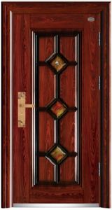 Security Steel Door with Nice Decoration Pattern pictures & photos